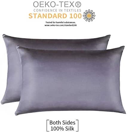 Jocoku 100% Mulberry Silk Pillowcases Set of 2 for Hair and Skin and Super Soft and Breathable Standard Size White/Queen/King