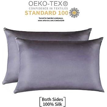 Amazon Com Silver 100 Mulberry Silk Pillowcase For Hair