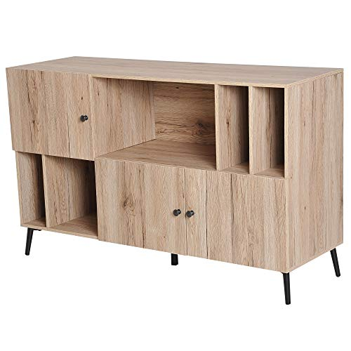 orary Sideboard Buffet Table Storage Cabinet - Oak ()