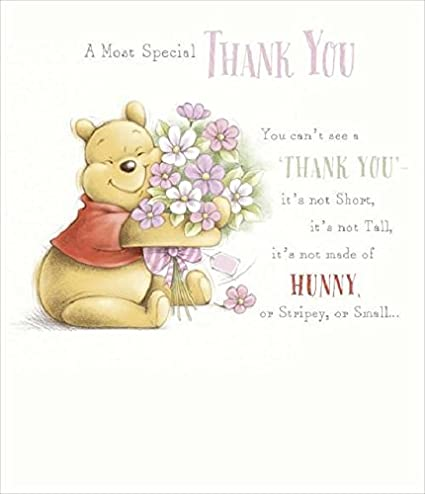 Amazon winnie the pooh thank you card baby m4hsunfo