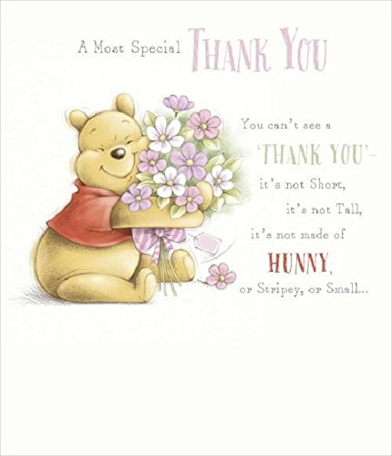 winnie the pooh thank you card amazon co uk office products