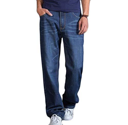 Adelina Pantaloni Elastici Da Uomo Larghi Confortevoli E Abbigliamento A Gamba Dritta In Cotone Ufige Denim