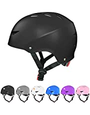 Dostar Skateboard Helmet for Kids Youth & Adults Bike Helmet for Multi-Sports Cycling Roller Skate BMX Scooter Helmet, 3 Adjustable Sizes Helmet for Toddler Men Women