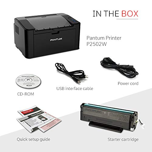 Pantum Monochrome Laser Printer with Wireless Networking and Mobile Printing P2502W by Pantum (Image #3)