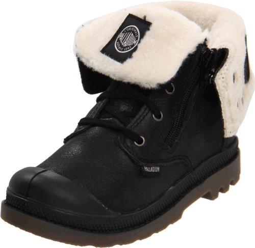 Palladium Baggy Leather S Boot ,Black,12.5 M US Little Kid