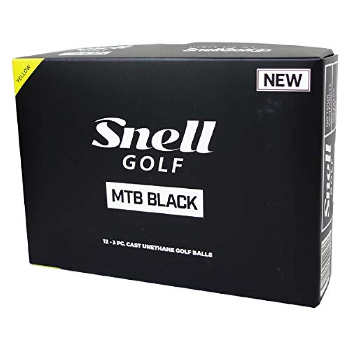 [해외] SNELL GOLF 스넬 골프공 MTB BLACK 12구 옐로우
