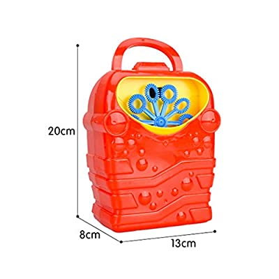 Bubble Machine 20ml, Kids Durable Automatic Bubble Blower Outdoor & Indoor Activity Toy for Girl Boy,Best Gaming Toy Gift for Kids Toddlers Boys Girls (Blue): Toys & Games