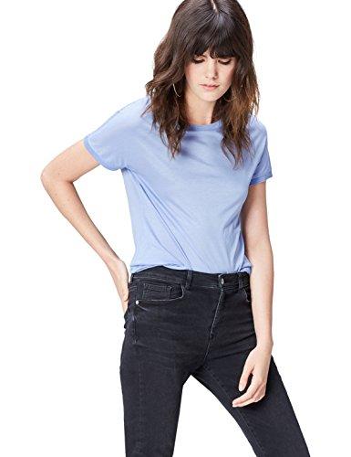 Blue T FIND Girocollo Donna Chambray Blu Shirt qYpprxwRd