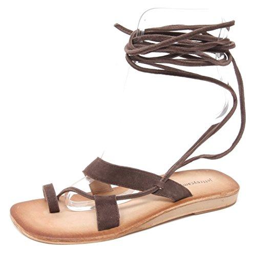 Donna Sandalo Campbell Infradito B3050 Vista Woman Marrone Jeffrey Shoe Sue vqfRwSg