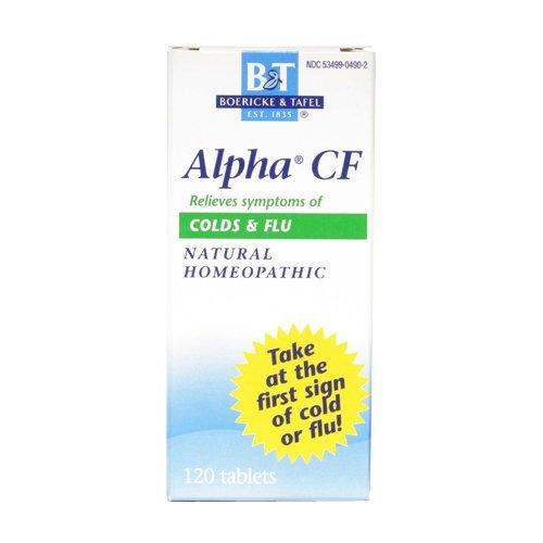 Alpha CF (Colds & Flu) 120 tabs by Boericke & Tafel