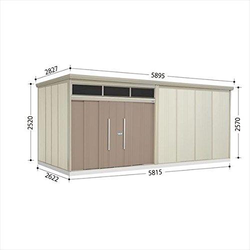 タクボ物置 JNA/トールマン ブライト JNA-S5826B 多雪型 標準屋根 『屋外用大型物置』 カーボンブラウン B01M00OBU1