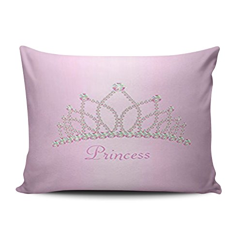 KEIBIKE Personalized Little Princess Rectangle Decorative Boudoir Pillowcases Pink Decor Zippered Throw Pillow Covers Cases 12x16 Inches One Sided