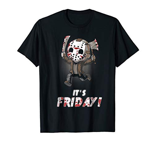 It's Friday Funny Halloween Horror Graphic T-shirt -