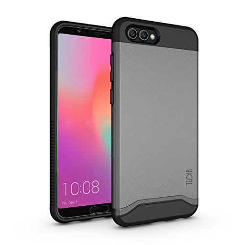 Honor View 10 / Honor V10 Case, TUDIA Slim-Fit Heavy Duty [Merge] Extreme Protection/Rugged but Slim Dual Layer Case for Huawei Honor View 10 / Honor V0 (Metallic Slate)