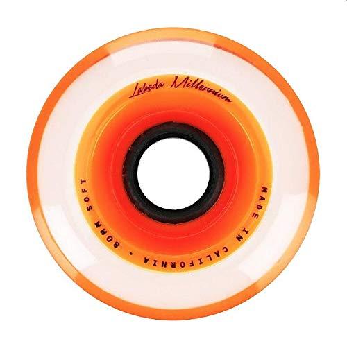 Labeda Millenium Inline Skate Wheels (Orange, 80mm)