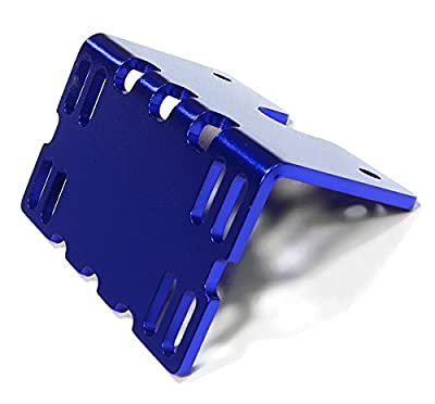 Integy Hobby RC Model C26138BLUE Billet Machined Side ESC Mount Plate for Axial 1/10 SCX-10 Crawler