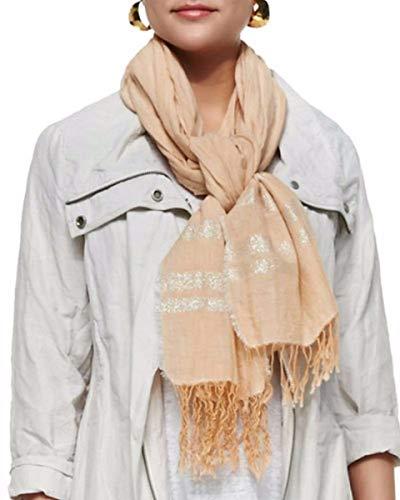 Eileen Fisher Sparkle Chambray Organic Cotton ALABASTER Scarf 20