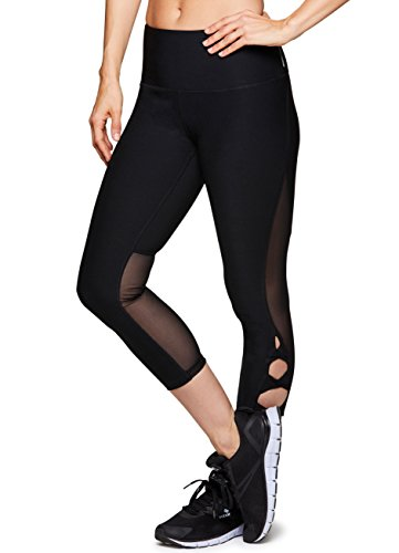 RBX Active Women's Yoga Workout Mesh Capri Leggings Back M ()
