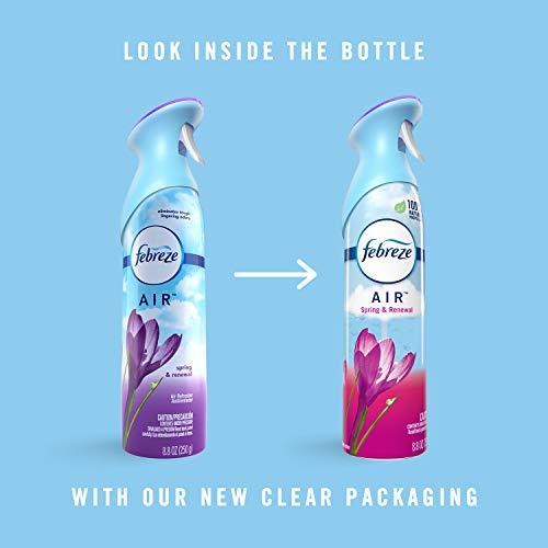 Febreze Air Freshener and Odor Eliminator Spray, Spring & Renewal Scent, 8.8 oz (Pack of 6)