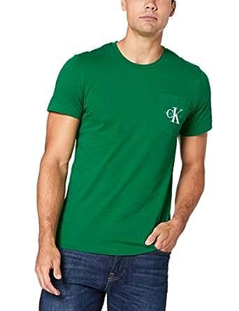 Calvin Klein Jeans Men's Monogram Pocket Slim T-Shirt, Jolly Green, S