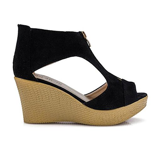 Per Wide Da Hibote Le Passeggio Heels Con Summer Fit Toe Donne Peep Platform Zeppa Comfort Donna Sandali Uxx7qAw4t