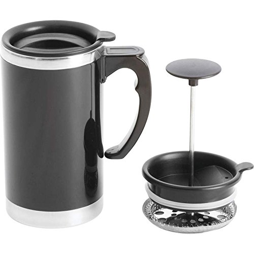 Wyndham House 21oz Stainless Steel Lined, Double-Wall Travel French Press Coffee/Tea Mug