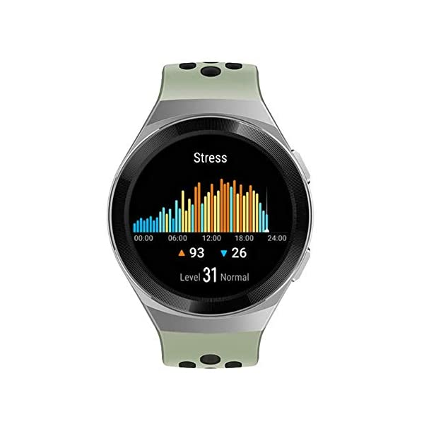 41tPQsIp8hL HUAWEI Watch GT 2e Active (Mint Green, 46mm, 2 Weeks Battery, Music Control, 100 Workout Modes, SpO2 & Heartrate Monitor…