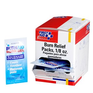 Burn relief pack- 3.5 gm- 25 per dispenser box