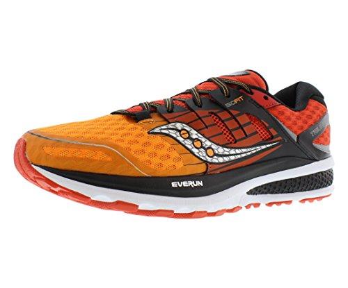 Saucony Men's Triumph Iso 2 running Shoe, Red/Org/Black, 12 M - Black Shoes Mens Saucony
