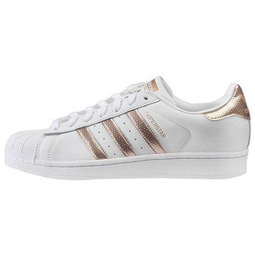 Adidas Originals Women's Superstar W Fashion Sneaker (Womens 9.5, Rose Gold)