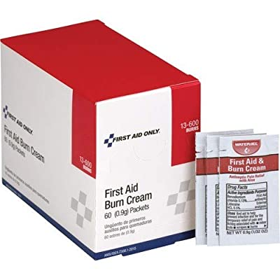 First Aid Only Pac-Kit 13-600 First Aid/Burn Cream, 0.9 gm Packet (Box of 60) from Pac-Kit