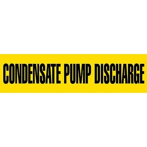 GHS Safety PM1072VA, Vinyl Pipe Marker''CONDENSATE Pump Discharge'', Pack of 500 pcs
