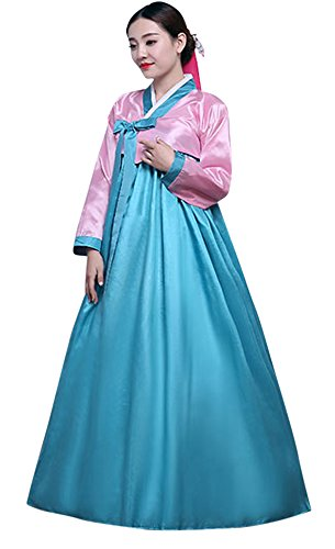CRB Fashion Ladies Womens Korean Traditional Hanbok Dress Outfit (Small, Pink) - East Halloween Costume Ideas