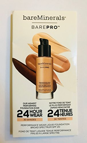bareMinerals BarePRO Performance Wear Liquid Foundation Broad Spectrum SPF 20 - Sampler card
