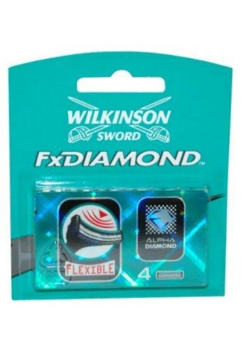 FX Diamond by Wilkinson Sword Blades x 4