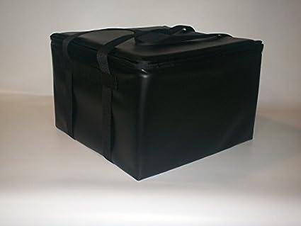 TCB, bolsa isotérmica para alimentos Catering cúpula/cierre hermético bandejas, negro, 22