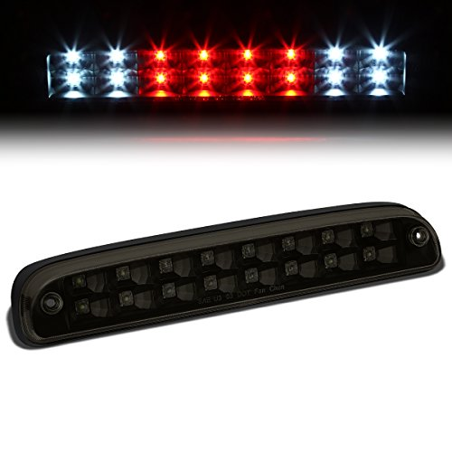 For Ford Super Duty/Ranger/Mazda B-Series High Mount Dual Row LED 3rd Tail Brake/Cargo Light (Black/Smoke) ()