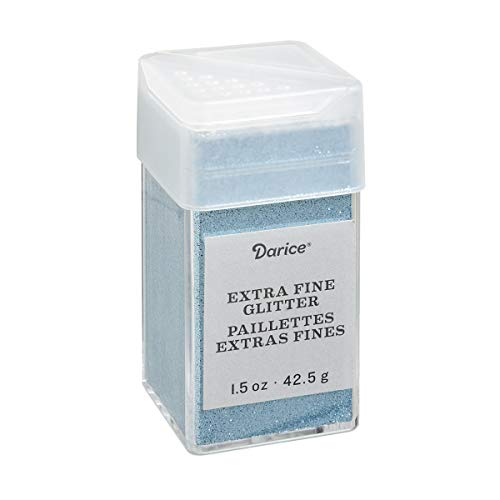 Extra Fine Glitter - Ocean Extra Fine Glitter 1.5 Ounces Canister w/Pour or Shake Lid