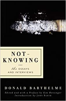 Book Not-Knowing: The Essays and Interviews