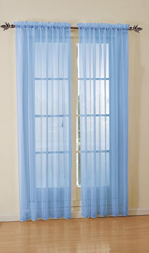 Light Blue Curtains Or Drapes - 2