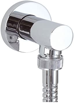 ENKI L05 Traditional Shower Outlet Elbow Connector Solid Brass Chrome
