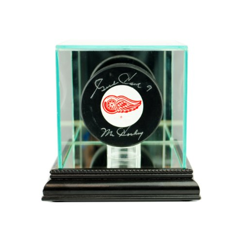 Single Hockey Puck Display Case - Perfect Cases NHL Single Hockey Puck Glass Display Case, Black