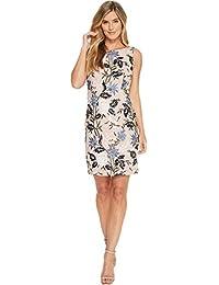 Womens Sequins Floral Sheath Dress