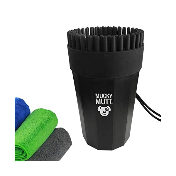 Mucky Mutt Dog Paw Cleaner & Bath Brush Kit – Deluxe Portable Washer | Plunger for Small Medium Large Dogs – Clean Muddy… Click on image for further info.