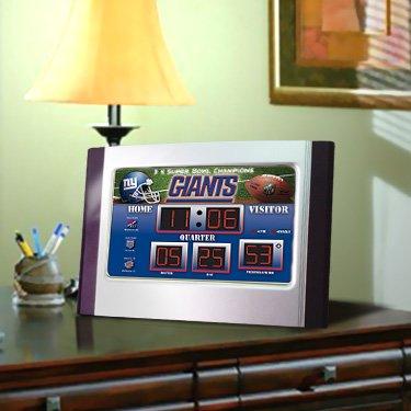 New England Patriots Scoreboard Desk Clock