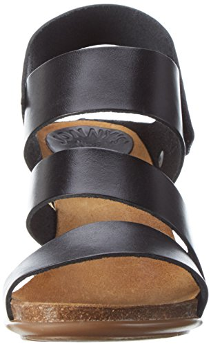Jonny's Naike, Women's Open Toe Sandals Schwarz (Black )