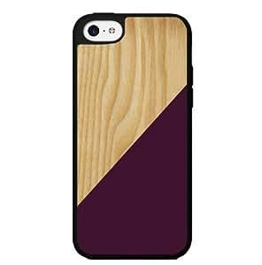 Burgundy Geometric Shape on Light Wood Hard Snap on Phone Case (iPhone 5c) by icecream design