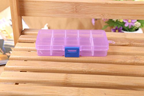 Wall Tip (Clearance Sale!DEESEE(TM)10 Grids Adjustable Jewelry Beads Pills Nail Art Tips Storage Box Case (B))