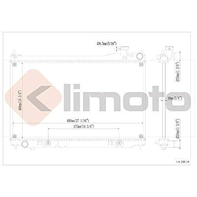 Klimoto Brand New Radiator fits Infiniti G35 2003 2004 2005 3.5L V6 Sedan Only IN3010114 21460AQ800 432644 CSF2768 CSF-2768 CU2455 9896 7169 21460-AQ800: Automotive
