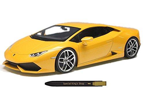 Willy Genuine 1:18 Lamborghini Huracan LP610-4 Die-Cast Metal Car, 33 x 13 x 16 (cm) + Free Gift (Ball Point Pen)